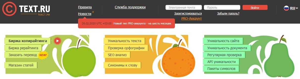 Сайты для начинающих писателей — Текст.ру