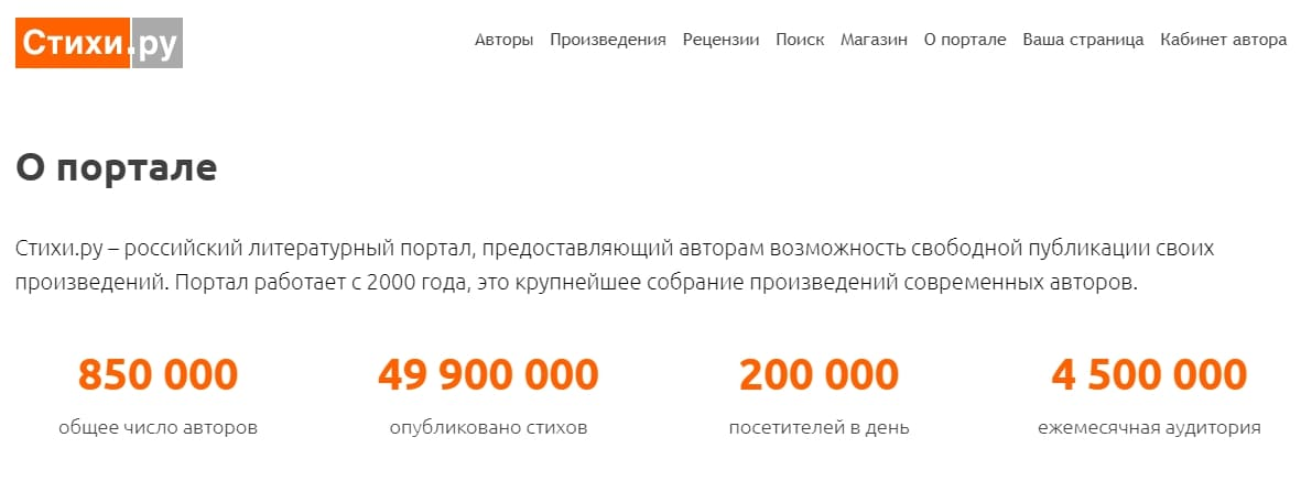 Поэтические сайты: Стихи.ру
